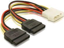 Adaptér napájení z Molex 4-pin na 2x SATA 15-pin, 60102