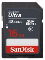 Sandisk Ultra SDHC 16 GB 48 MB/s Class 10 UHS-I , SDSDUNB-016G-GN3IN