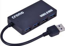 Crono USB HUB, 4 porty, USB 3.0, černý, U1325