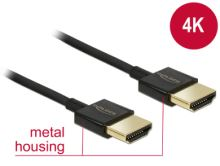 Delock Kabel High Speed HDMI s Ethernetem - HDMI-A samec > HDMI-A samec 3D 4K 1,5 m Slim Premium 84772