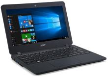 "Acer TravelMate B117-M-C3C8 Celeron N3160/4 GB+N/32GB eMMC+N/A/HD Graphic/11.6"" HD matný/BT/W10 Pro/Black, NX.VCHEC.001"