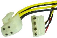 "Kabel redukce napájení GEMBIRD 1x 5,25"" na 1x 4pin P4 konektor"