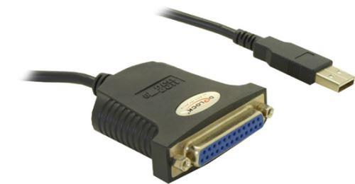 Delock konvertor USB->Paralelní 25-pin (matice) 0,8 m, 61330