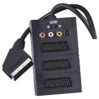 AV kabel SCART - 3x SCART + 3x CINCH + 1x SVHS 0,5m, 2333123000
