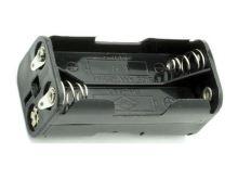 Pouzdro baterie  R03x4 vedle sebe,nad, s pájecími očky