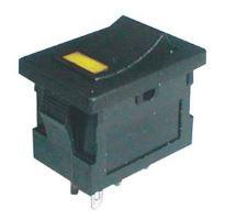 Přepínač kolébkový     2pol./4pin  ON-OFF 250V/3A LED žlutý