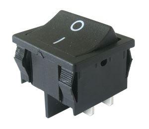 Přepínač kolébkový     2pol./4pin  ON-OFF 250V/6A černý