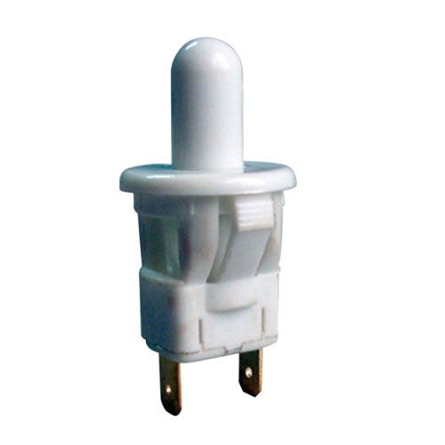 Přepínač tlačítko kul. typ-3 OFF-(ON) 250V/1A bílé