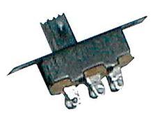 Přepínač šoupátkový-malý 2pol./3pin