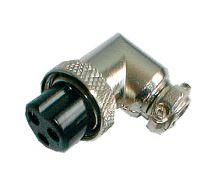 Zdířka MIC kabel kov 3PIN úhlová šroubovací