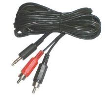 Kabel TIPA JACK 3.5 stereo/2xCINCH 1,5m