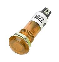 Kontrolka 230V s doutnavkou, žlutá do otvoru 10mm