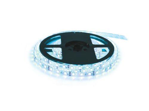 LED pásek 12V 3528 120LED/m IP20 max. 9.6W/m bílá studená - ice blue (cívka 5m)