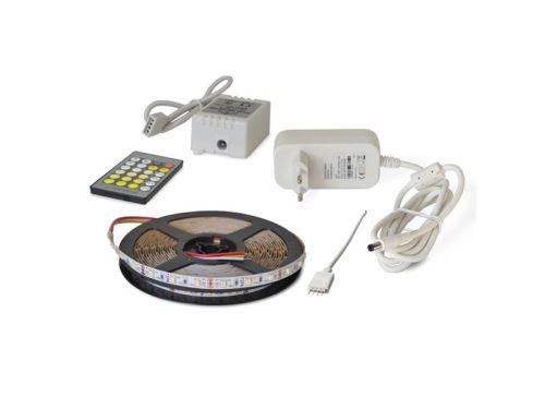 LED pásek sada 5m 12V 3527 60LED/m IP20 4,8W/m CCT, variabilní (W+N+C) + zdroj + kontroler