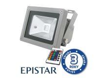 LED venkovní reflektor 10W RGB  EPISTAR, MCOB, AC 230V, šedý