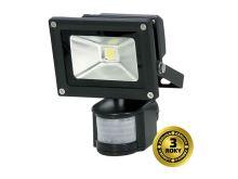 LED venkovní reflektor, 10W, 700lm, AC 230V, černá, se senzorem PIR