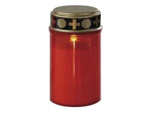 LED hřbitovní svíčka se senzorem, na 2x AA, červená LED