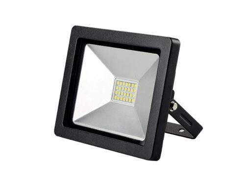 LED venkovní reflektor SLIM, 20W, 1400lm, 3000K, černá WM-20W-G