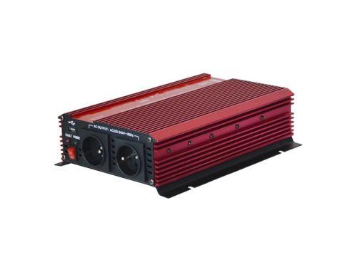 Měnič napětí Geti GPI 1612 12V/230V 1600W USB