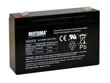 Baterie olověná   6V/12Ah  MOTOMA bezúdržbový akumulátor