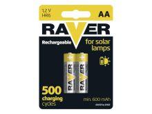 Baterie AA (R6) nabíjecí RAVER solar 600mAh