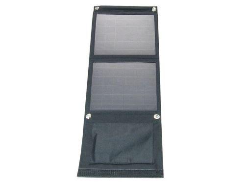 Fotovoltaický solární panel 12W s USB, přenosný, skládací