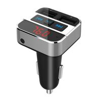 Transmitter do auta FM s bluetooth připojením do auta, 2x USB + handsfree SOLIGHT BT02