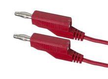 Propojovací kabel 0,35mm2/ 2m s banánky červený