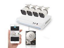 Kamerový systém ZMODO 720P sPoE 4CH NVR + 4x IP CAM + 1TB HDD digitální UMNP10062