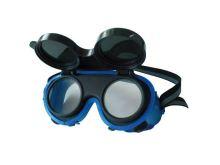 Brýle svářečské, odklápěcí kruhové zorníky třídy F, ochrana proti záření