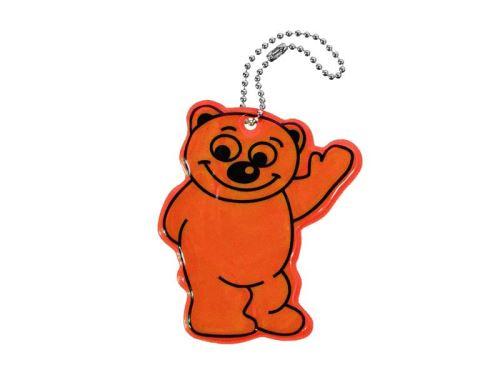 Reflexní přívěšek BEAR oranžový COMPASS 01724