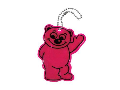 Reflexní přívěšek BEAR - fialový