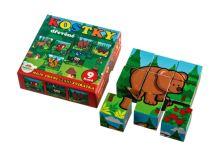Kostky dětské TEDDIES MOJE PRVNÍ LESNÍ ZVÍŘÁTKA dřevěné