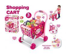 Dětský nákupní košík G21 s příslušenstvím PINK