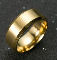 Prsten MANLIKE zlatá barva 67mm, pánský