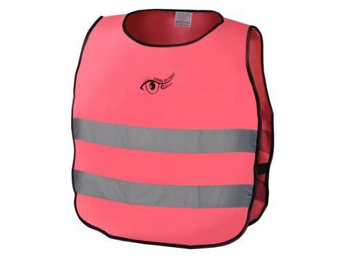 Reflexní výstražná vesta dětská růžová S.O.R. EN 1150:1999 COMPASS 01552