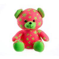 Medvídek plyšový TEDDIES svítící ve tmě GREEN