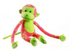 Opička plyšová TEDDIES svítící ve tmě GREEN