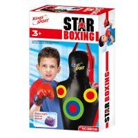 Pytel boxovací G21 STAR se zvukem + rukavice