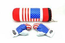 Dětský boxovací pytel TEDDIES USA II