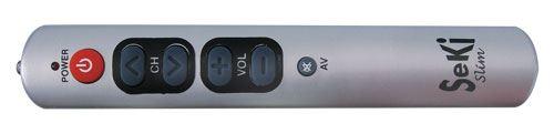 Ovladač dálkový  SEKI SLIM stříbrný pro seniory - univerzální - velká tlačítka