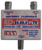 Anténní slučovač AZP24,28,41+TV  IEC