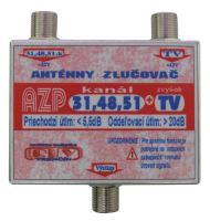 Anténní slučovač AZP31,48,51+TV  F-F