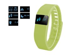 Náramek FT64, OLED, Bluetooth 4.0, Android+iOS zelená - rozbaleno