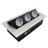 Výklopná zásuvková lišta 3x 230V FKVZ3