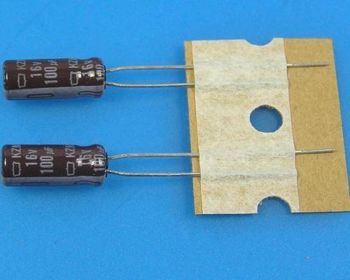 100uF/16V - 105°C Nippon  KZM kondenzátor elektrolytický, low ESR, long life, high ripple