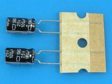 100uF/25V - 85°C Nippon  SMG   kondenzátor elektrolytický