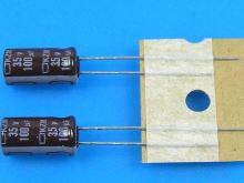 100uF/35V - 105°C Nippon  KZM,  kondenzátor elektrolytický, low ESR, long life, high rippl