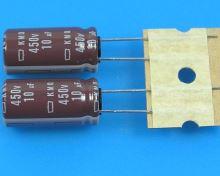 10uF/450V - 105°C Nippon KMQ   kondenzátor elektrolytický