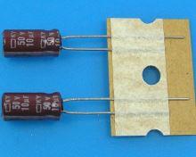 10uF/50V - 105°C Nippon  KY   kondenzátor elektrolytický, low ESR, long life